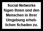 Social Network Gesundheitshinweis