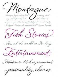 montague-script-font