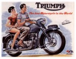 Retro-Werbung-Triumph