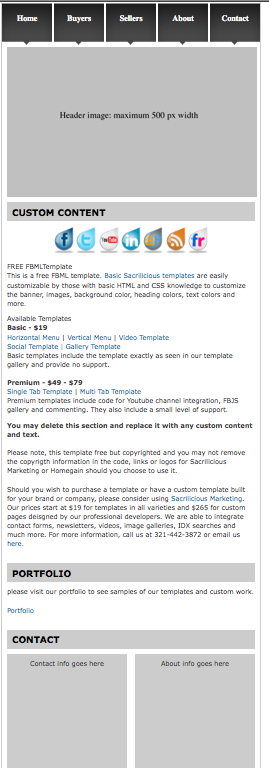 gratis-fbml-facebook-template