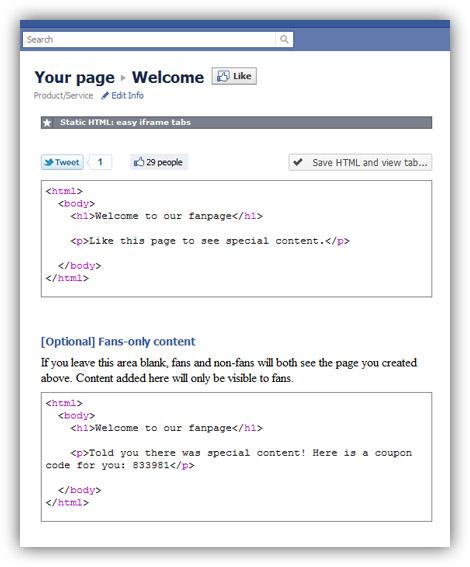 Facebook Iframes erstellen mit App