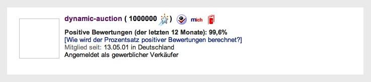 Deutscher Ebay Händler knackt die 1 Million Bewertungen