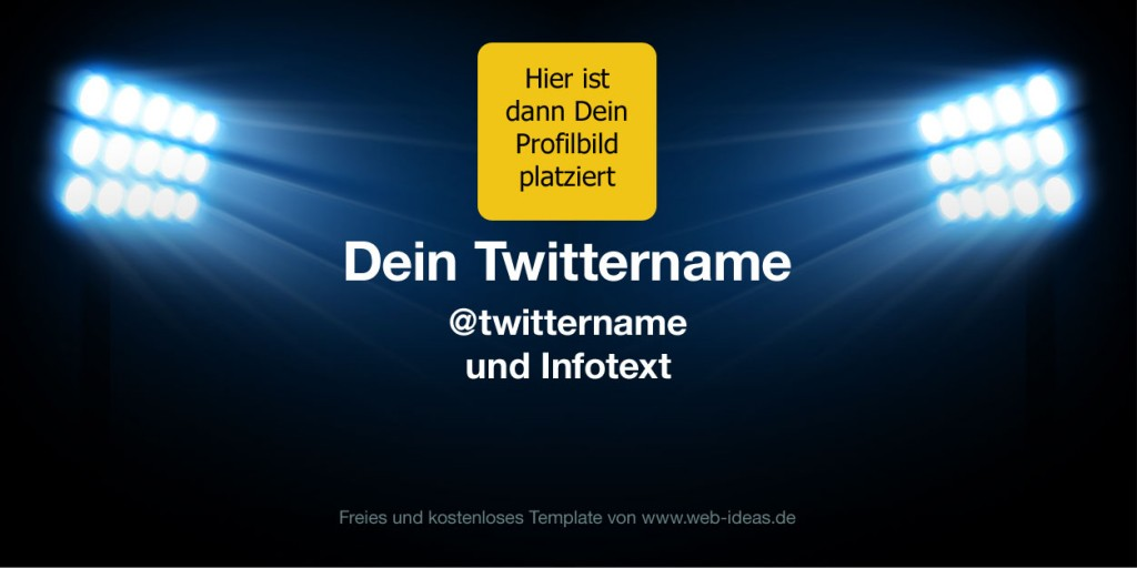 Twitter Profilbild Template - Gratis Download
