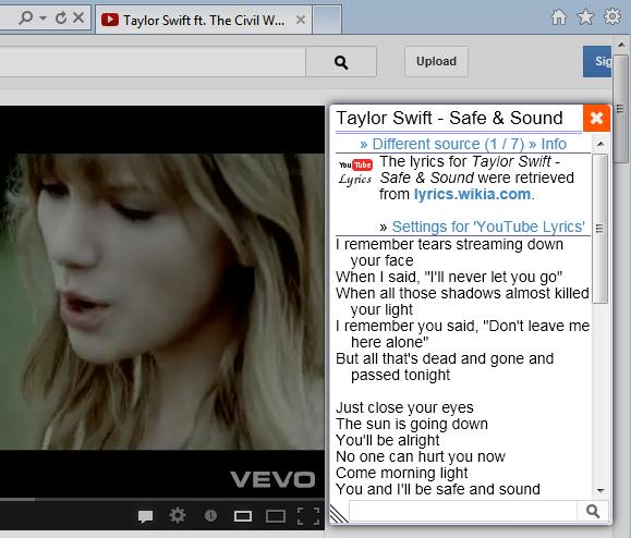 Songtexte in YouTube anzeigen