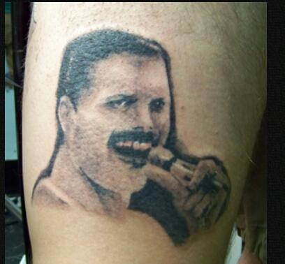 Schlechtesten Rock Tattoos - Freddie Mercury