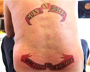 Schlechtesten Rock Tattoos - Guns n Roses